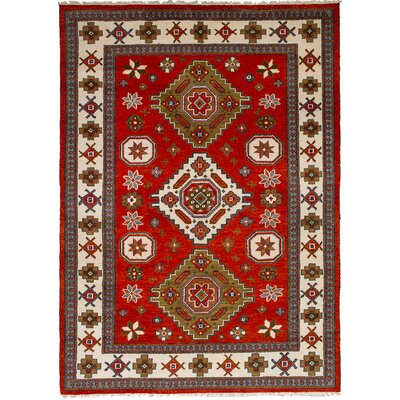 One-of-a-Kind Berkshire Hand-Knotted Wool Light Red Indoor Area Rug