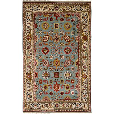 One-of-a-Kind Briggs Hand-Knotted Wool Cream Indoor Area Rug