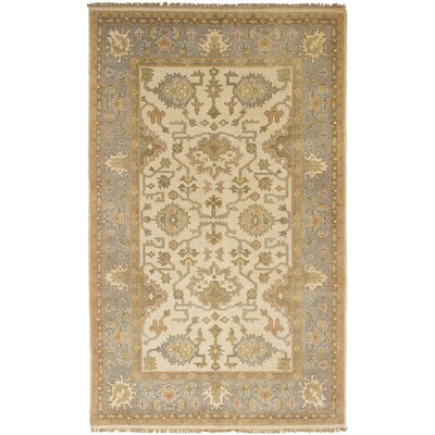 One-of-a-Kind Li Hand-Knotted Wool Cream Indoor Area Rug