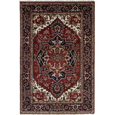 One-of-a-Kind Briggs Hand-Knotted Wool Dark Red Indoor Area Rug