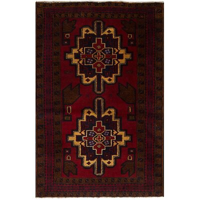 One-of-a-Kind Hewes Hand-Knotted Wool Red Indoor Area Rug