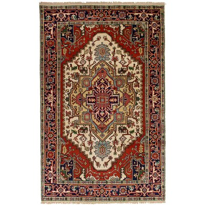 One-of-a-Kind Briggs Hand-Knotted Wool Cream/Dark Copper Indoor Area Rug