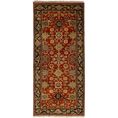 One-of-a-Kind Briggs Hand-Knotted Wool Red Indoor Area Rug