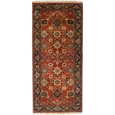 One-of-a-Kind Briggs Hand-Knotted Wool Light Red Indoor Area Rug