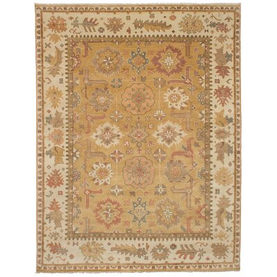 One-of-a-Kind Li Hand-Knotted Wool Light Brown Area Rug