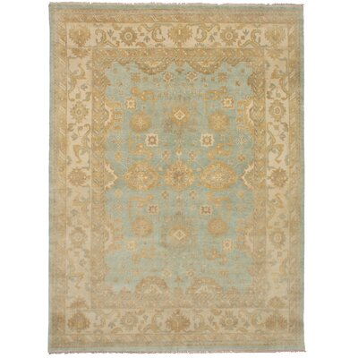 One-of-a-Kind Li Hand-Knotted Wool Light Green/Beige Area Rug
