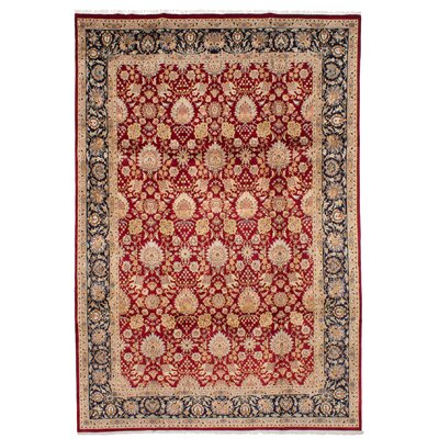 One-of-a-Kind Armistead Hand-Knotted Wool Dark Red Indoor Area Rug