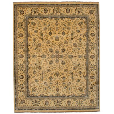 One-of-a-Kind Kenmar Hand-Knotted Wool Ivory Area Rug