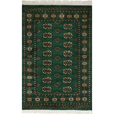 One-of-a-Kind Onondaga Hand-Knotted Wool Green Indoor Area Rug