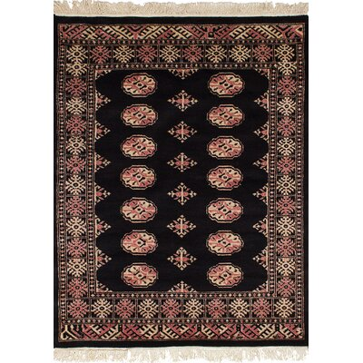 One-of-a-Kind Onondaga Hand-Knotted Wool Black Indoor Area Rug