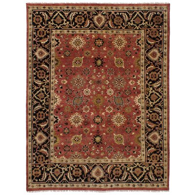 One-of-a-Kind Briggs Hand-Knotted Wool Red/Brown Area Rug