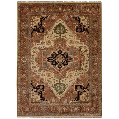 One-of-a-Kind Briggs Hand-Knotted Ivory/Brown Area Rug