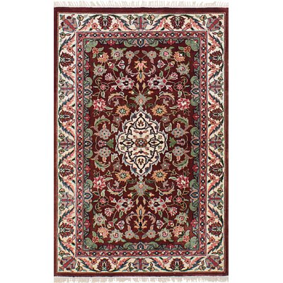 One-of-a-Kind Drumavoley Hand-Knotted Silk Dark Copper Area Rug