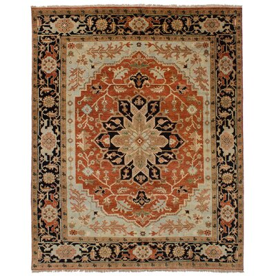 One-of-a-Kind Briggs Hand-Knotted Dark Copper/Brown Area Rug