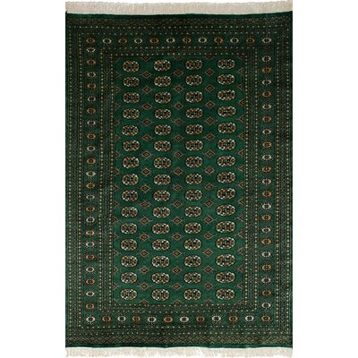 One-of-a-Kind Olney Springs Hand-Knotted Wool Green Indoor Area Rug