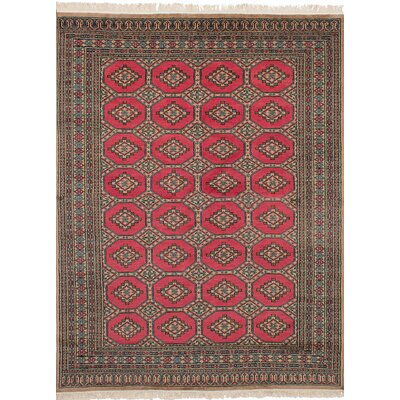 One-of-a-Kind Onondaga Hand-Knotted Wool Red Indoor Area Rug
