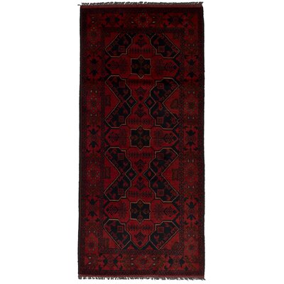 One-of-a-Kind Rosales Hand-Knotted Wool Red Area Rug Rug Size: Runner 28 x 63