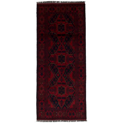 One-of-a-Kind Rosales Hand-Knotted Wool Red Area Rug Rug Size: Runner 27 x 65