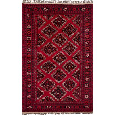 One-of-a-Kind Bridges Hand-Knotted Wool Red Indoor Area Rug