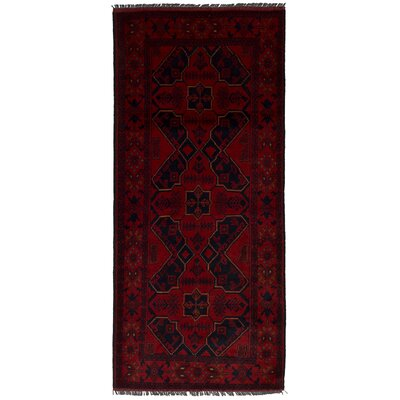 One-of-a-Kind Rosales Hand-Knotted Wool Red Area Rug Rug Size: Runner 28 x 64