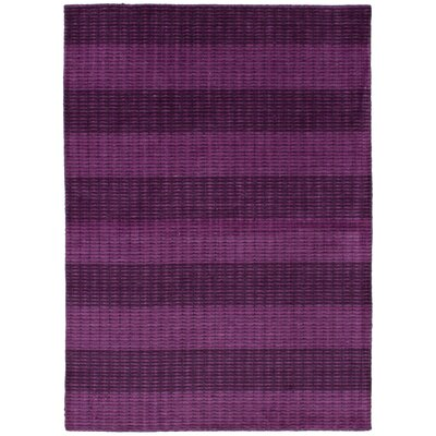 One-of-a-Kind Marple Hand-Knotted Wool Purple Area Rug