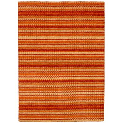 One-of-a-Kind Marple Hand-Knotted Wool Orange/Red Area Rug