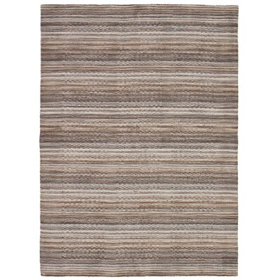One-of-a-Kind Marple Hand-Knotted Wool Light Gray/Tan Area Rug