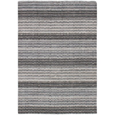 One-of-a-Kind Marple Hand-Knotted Wool Gray Area Rug