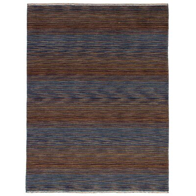 One-of-a-Kind Marple Hand-Knotted Wool Blue Area Rug