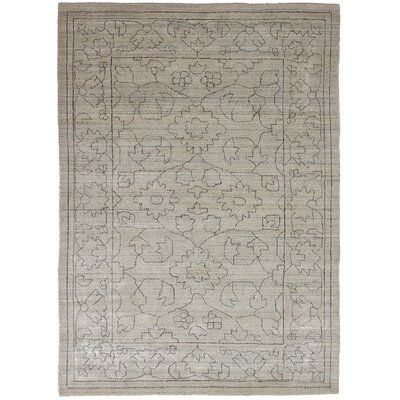 One-of-a-Kind Marple Hand-Knotted Silk Cream Area Rug