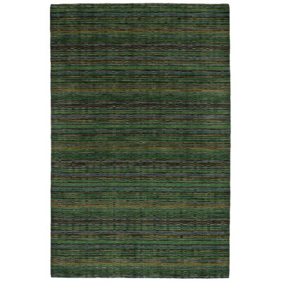 One-of-a-Kind Marple Hand-Knotted Wool Green Area Rug