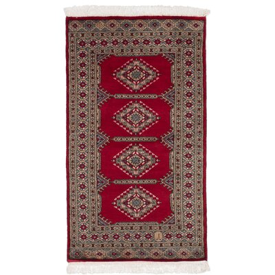 One-of-a-Kind Olney Springs Hand-Knotted Wool Red Area Rug