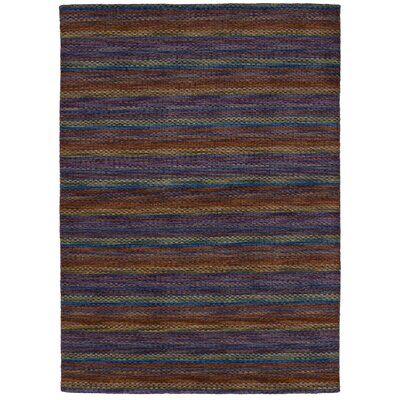 One-of-a-Kind Marple Hand-Knotted Wool Brown/Purple Area Rug