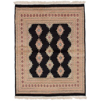 One-of-a-Kind Onondaga Hand-Knotted Wool Black Area Rug