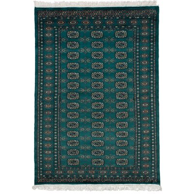 One-of-a-Kind Olney Springs Hand-Knotted Wool Dark Teal Area Rug