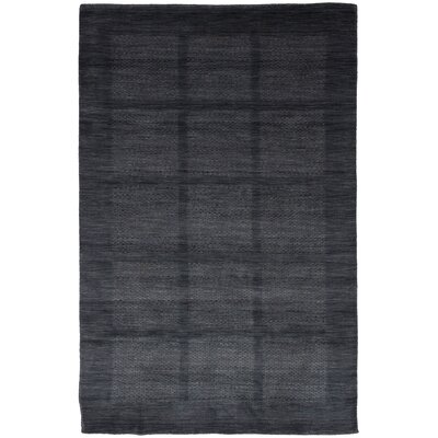 One-of-a-Kind Marple Hand-Knotted Wool Dark Gray Area Rug