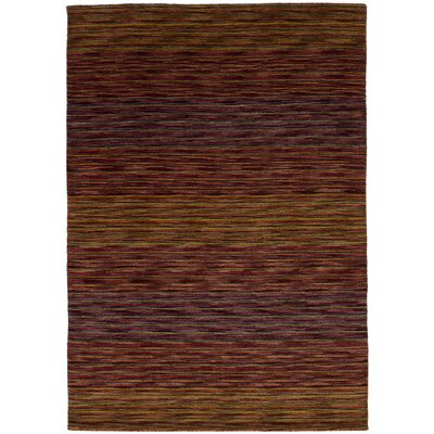 One-of-a-Kind Marple Hand-Knotted Wool Light Brown/Red Area Rug
