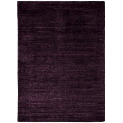 One-of-a-Kind Marple Hand-Knotted Wool Dark Purple Area Rug