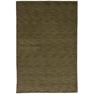 One-of-a-Kind Marple Hand-Knotted Wool Olive Area Rug