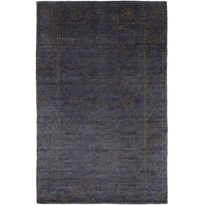 One-of-a-Kind Marple Hand-Knotted Dark Gray Area Rug