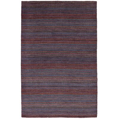 One-of-a-Kind Marple Hand-Knotted Wool Violet Area Rug