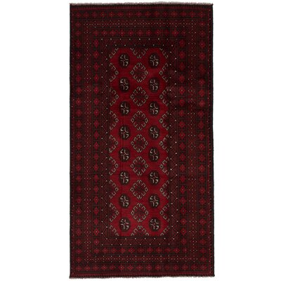 One-of-a-Kind Bridges Hand-Knotted Wool Red Area Rug
