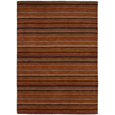 One-of-a-Kind Marple Hand-Knotted Wool Dark Copper Area Rug
