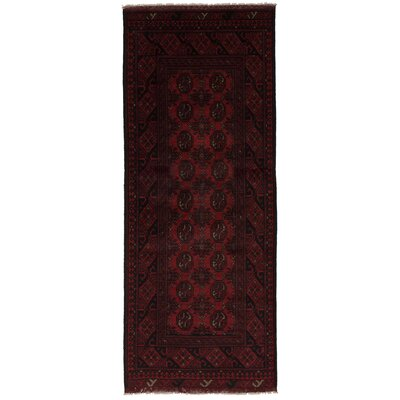 One-of-a-Kind Bridges Hand-Knotted Wool Dark Red Area Rug