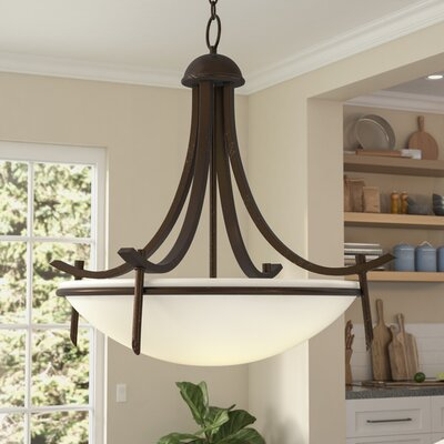 Hawkes 3-Light Inverted Pendant Finish: Rubbed Oil Bronze