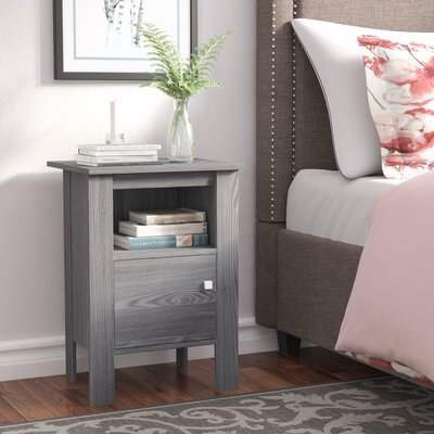 Alexandra Nightstand Color: Gray