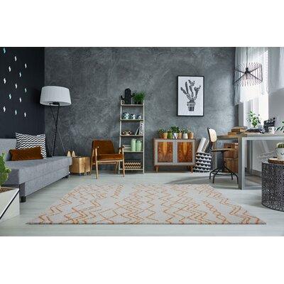 Mckinnie Shaggy Ivory/Orange Area Rug Rug Size: Rectangle 710 x 105