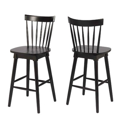 Manzi 30 Swivel Bar Stool Frame Color: Black