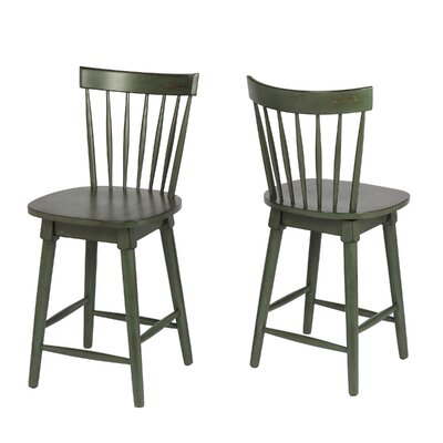 Manzi 25 Swivel Bar Stool Frame Color: Green