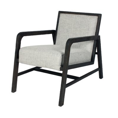 Coronado Armchair Upholstery: Pepper, Finish: Ebony